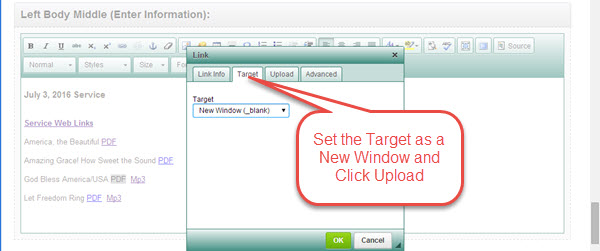 wpu Upload Target