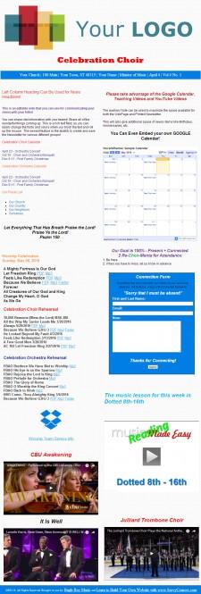 WP Newsletter Sample